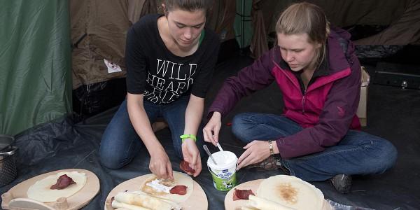 ECO CAMP IN SERBIA IN TARA PARK.Pancakes